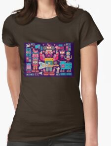 vector band and musicians  Womens Fitted T-Shirt