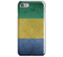 Gabon Flag Grunge iPhone Case/Skin