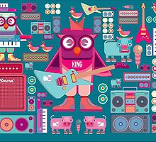 Cute colorful cartoon band by singpentinkhepi