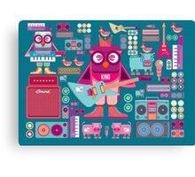 Cute colorful cartoon band Canvas Print