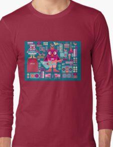 Cute colorful cartoon band Long Sleeve T-Shirt