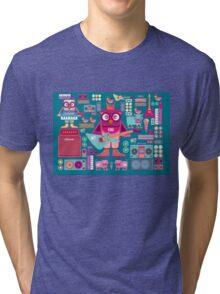 Cute colorful cartoon band Tri-blend T-Shirt