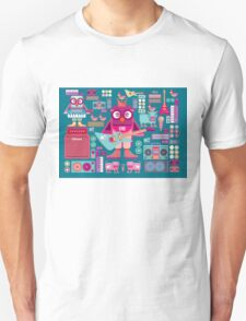 Cute colorful cartoon band T-Shirt