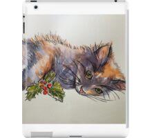 Christmas cat. Elizabeth Moore Golding 2014© iPad Case/Skin