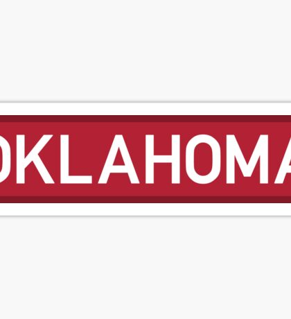 Oklahoma R Sticker