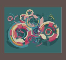 Vector colorful broken circle pattern T-Shirt