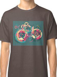 Vector colorful broken circle pattern Classic T-Shirt