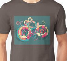 Vector colorful broken circle pattern Unisex T-Shirt