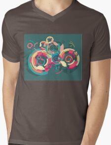 Vector colorful broken circle pattern Mens V-Neck T-Shirt