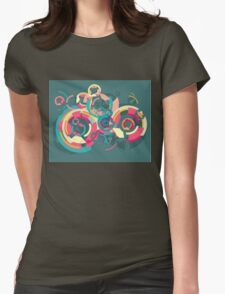 Vector colorful broken circle pattern Womens Fitted T-Shirt