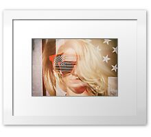 American Blonde Beauty 8767 Framed Print