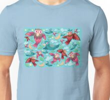 Colorful fun birds pattern  Unisex T-Shirt