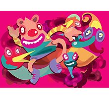 Cute clown colorful monster Photographic Print