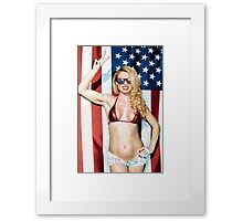 American Blond Beauty 8795 Framed Print