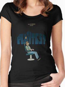 black mirror playtest Women's Fitted Scoop T-Shirt
