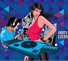 DJ party everyday by singpentinkhepi
