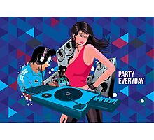 DJ party everyday Photographic Print