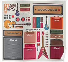 compilation guitar and amplifier Poster