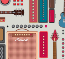 compilation guitar and amplifier Sticker
