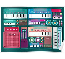 Colorful Synthesizer  Poster