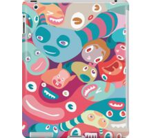 vector colorful random monster face pattern iPad Case/Skin
