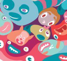 vector colorful random monster face pattern Sticker