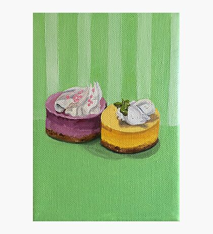 Mini Cheesecake painting Photographic Print