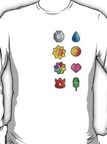 Kanto Pokemon Badges Full Set T-Shirt