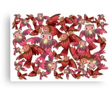 Cute random owl pattern Canvas Print