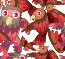 Cute random owl pattern Sticker