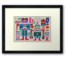 vintage robot and camera composition Framed Print