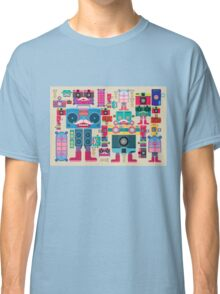 vintage robot and camera composition Classic T-Shirt