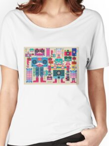vintage robot and camera composition Women's Relaxed Fit T-Shirt