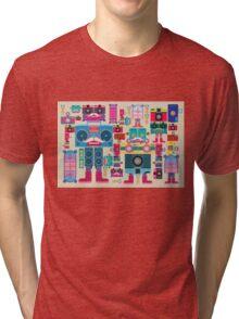 vintage robot and camera composition Tri-blend T-Shirt