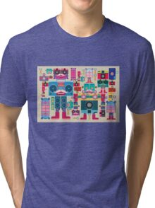 vintage robot and camera composition Tri-blend T-Shirt