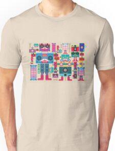 vintage robot and camera composition Unisex T-Shirt