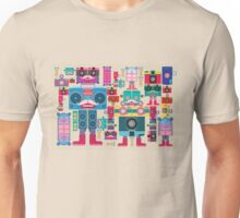 vintage robot and camera composition Unisex T-Shirt