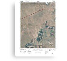 USGS TOPO Map Colorado CO Omar 20100816 TM Canvas Print
