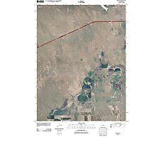 USGS TOPO Map Colorado CO Omar 20100816 TM Photographic Print