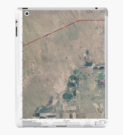 USGS TOPO Map Colorado CO Omar 20100816 TM iPad Case/Skin