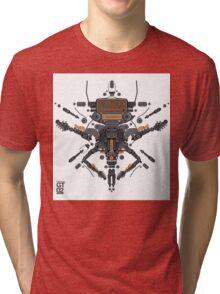 guitar robot character design Tri-blend T-Shirt