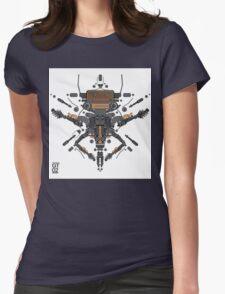 guitar robot character design Womens Fitted T-Shirt