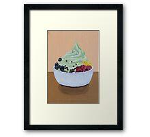 Frozen Yogurt Painting Framed Print