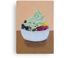 Frozen Yogurt Painting Canvas Print
