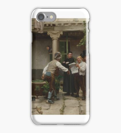 Jules Worms  FRENCH BREAKING THE NEWS iPhone Case/Skin