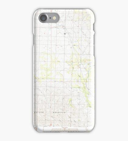 USGS TOPO Map California CA Snowstorm Mountain 295243 1989 24000 geo iPhone Case/Skin