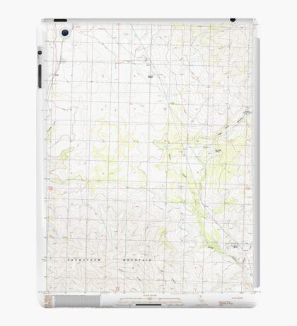 USGS TOPO Map California CA Snowstorm Mountain 295243 1989 24000 geo iPad Case/Skin