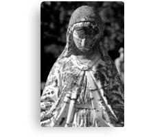 Saint Mary 1 Black and White Canvas Print