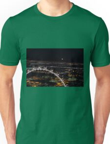 Super moon rising over an aerial view of Las Vega Unisex T-Shirt