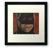 Smiling Batman Framed Print